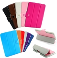New Solid Color Slim PU Leather Smart Magnetic Case Cover For iPad Mini2 Mini3 7 9
