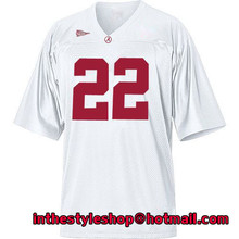 Alabama Crimson Tide #22 Mark Ingram White College Football Jerseys with 100% stitched(China (Mainland))