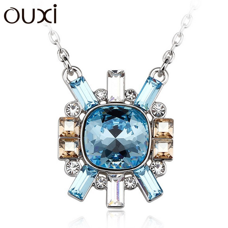 Best Quality Women Necklace Pendant Jewelry Sunlight Jewlery Made with Swarovski Elements Crystals from Swarovski OUXI NLA301(China (Mainland))