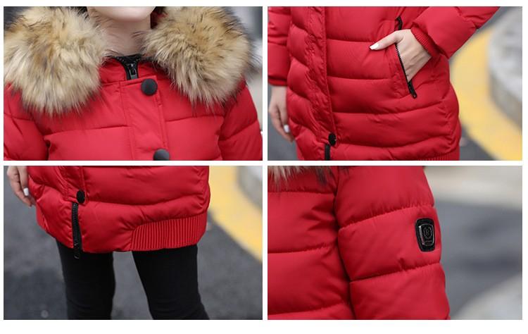 Скидки на Горячая продажа 2016 новая Зимняя Куртка Женщины Большой Меховой Воротник Куртка с капюшоном Толстые Пальто Для Женщин Пиджаки ParkaCoats casacos де inverno