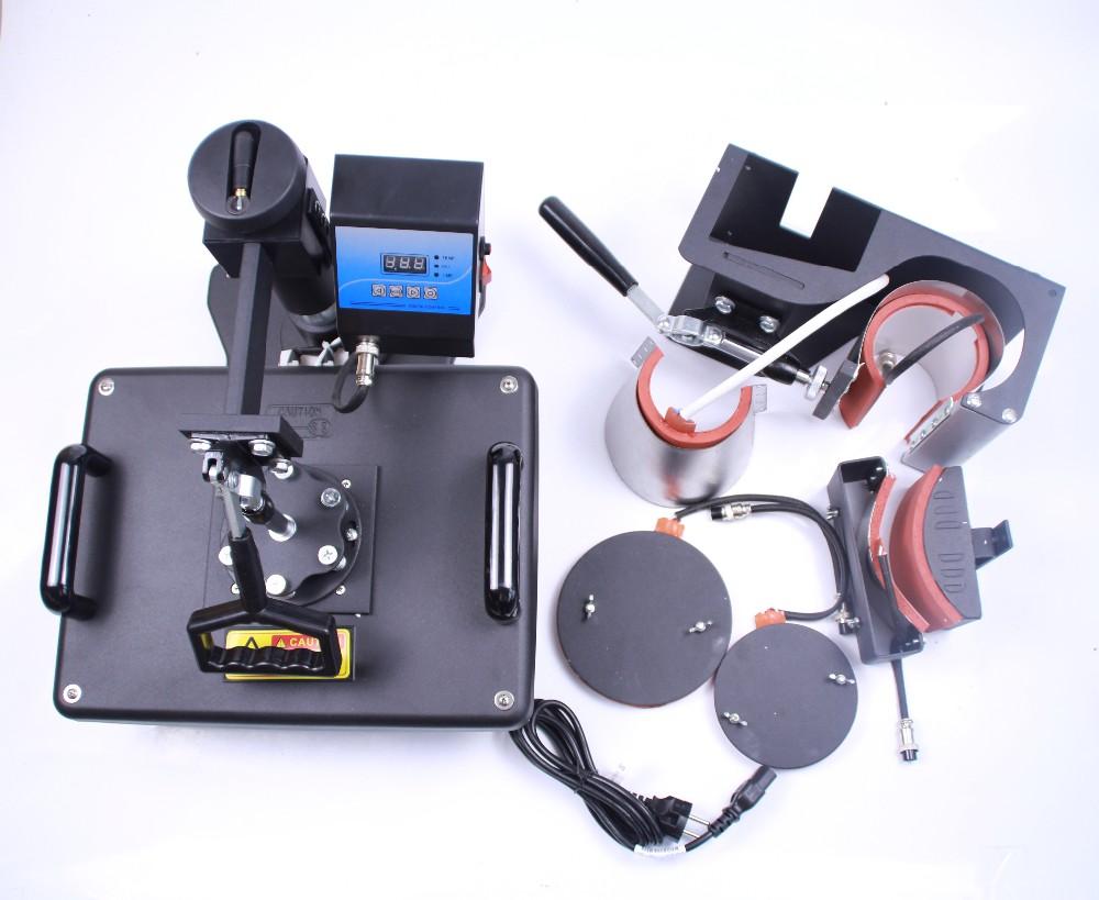 Купить 6 в 1 машине передачи тепла Машина для сублимации hat плиты кружка фотопечать 6in1 печатная машина DX-0601
