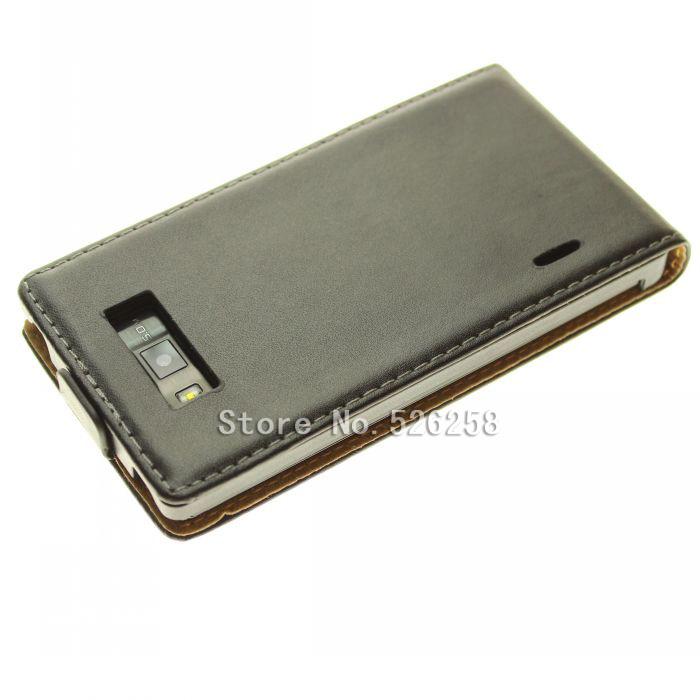 Leather Carbon Fiber Leather Flip Case for LG P705 P700 Optimus L7