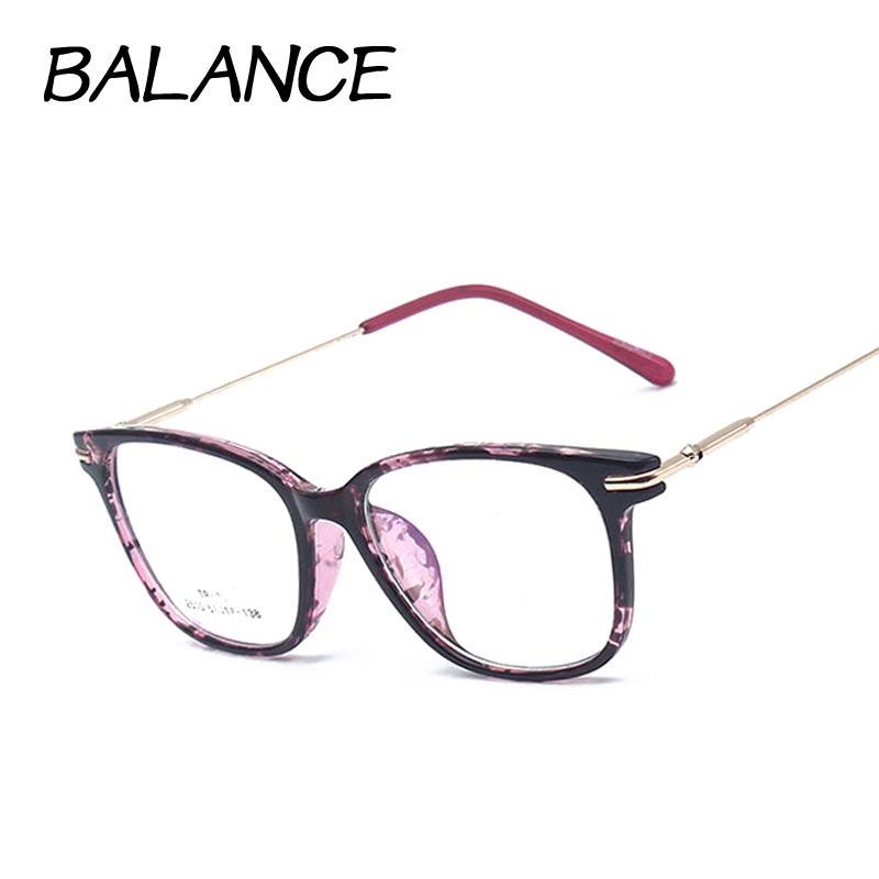 Retro square eyeglasses frames for women Nerd Glasses optical Metal eye glasses TR90 Eyewear oculos de grau femininos 6 colors