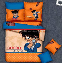 Free shipping via UPS!New 3pcs/4pcs Detective Conan bedding set without the filler twin/full/queen/king size cartoon bed linen(China (Mainland))