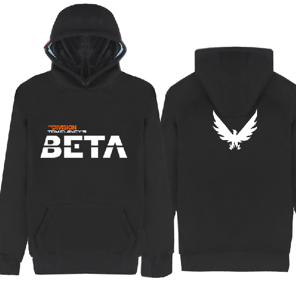 Mens Casual 2016 Game Tom Clancy's The Division Hoodies Printed Pattern Cotton Pulllover Hoody Sweatshirts Coats