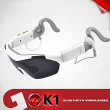 Smart Bluetooth Sunglasses K1 With 3 Lenses Touch Function 3D Glasses Wireless Headphone Stereo Music Sport Gafas Inteligentes