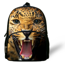 12-inch Mochila Escolar Menino Animal Backpack Kids School Bags For Boys Leopard Backpack Chid Animal Bag For Age 1-6(China (Mainland))