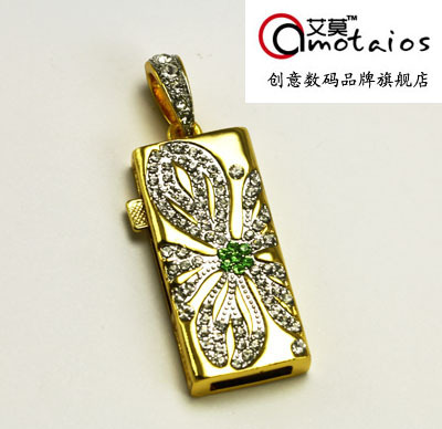 4gb flower crystal necklace usb flash drive personalized ultra-thin waterproof usb flash drive