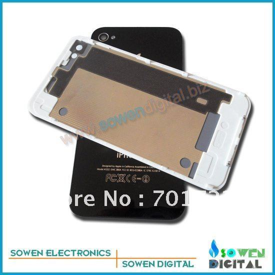 Back cover full set assembly for iphone 4 4g back housing,black and white,DHL or UPS  ,good quality