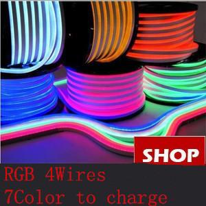 ROHS Hotsale colorful pink led neon flex strip light white 120led/m F5 DIP Epistar Super Brightness SMD5050 led neon flex RGB(China (Mainland))