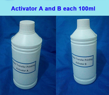 Activator A and B each 100ml Hydrographic Film Activator For Water Printing, Hydrographics Activator Free shipping(China (Mainland))