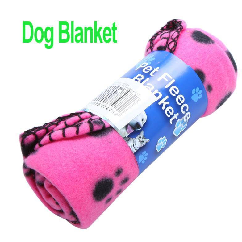 Freeshipping Cute Pet Dog Cat Blanket Paw Prints Soft Fleece Mat Bed Cover Rose Red 3 pcs/lot ,dropshipping(China (Mainland))