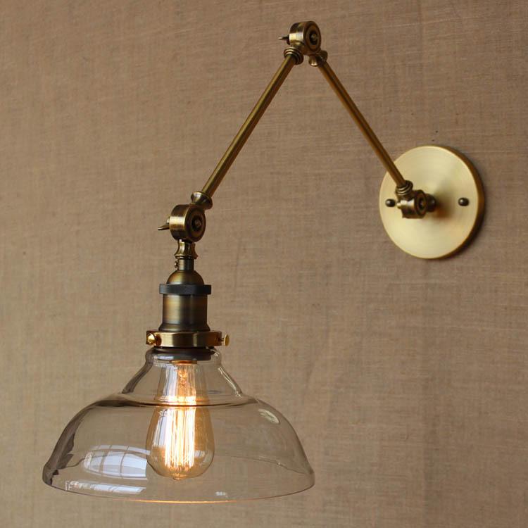 Фотография The Nordic Loft Style Modern Glass Wall Lamp Edison Bulb Asile Light Balcony Light Industrial Decorative Light Free Shipping