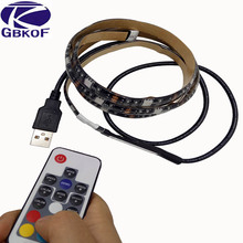 Buy 5V USB LED Strip 5050 RGB Waterproof TV Background Lighting 30LEDs/m DC 5V LED Strip 17Key RF Controller 50cm / 1m / 2m Set for $4.89 in AliExpress store