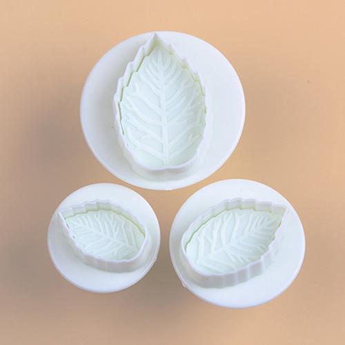 Гаджет  2015 3 Pcs Cake Xmas Leaf Plunger Fondant Decorating Sugarcraft Mold Cutter Tools  None Дом и Сад