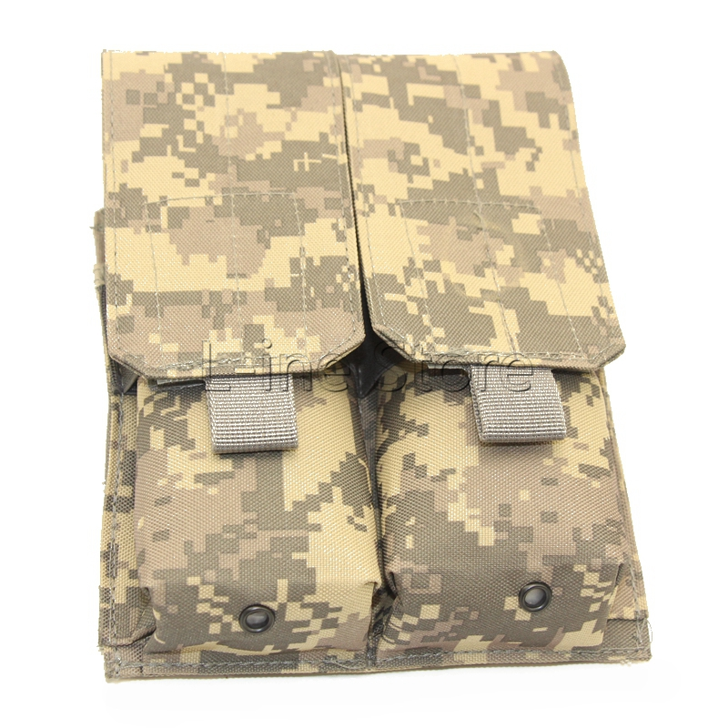 Hunting Gun Holster Pouch M4 AR15 Double Magazine Pouch 5.56 Tactical Airsoft Shooting Mag Bag ACU Camo(China (Mainland))