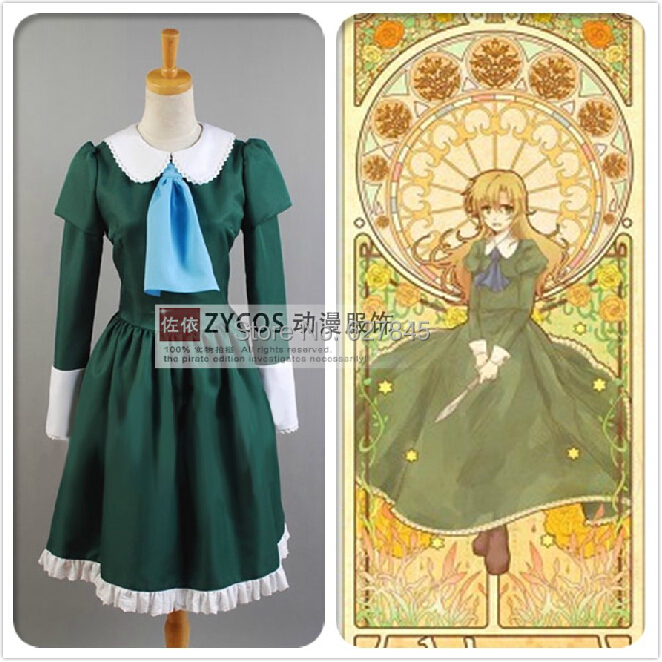 Sale IB Mary Garry Game Cosplay Costume Halloween Christmas Party Uniform Green outfit - Vogue Online Shop store