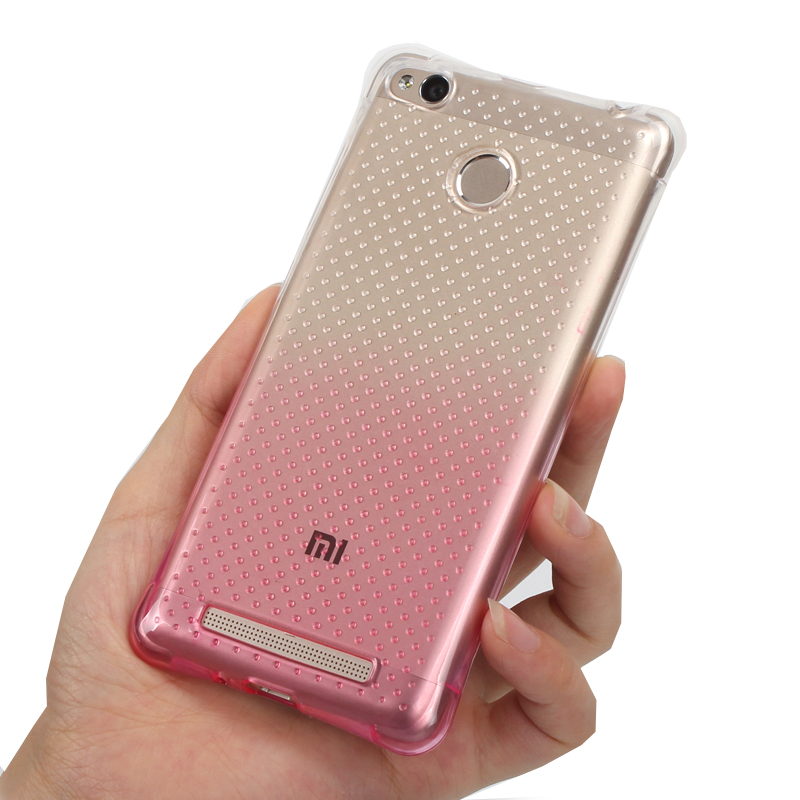 for Xiaomi Redmi 3 s Gasbag gel case Gradient Color back cover Protect shell Anti Knock case protection mobile phone bag air sac(China (Mainland))