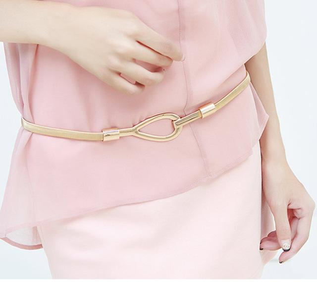 2016 бесплатная доставка женщин пояса роскошь талии пояс женщин металлической лентой, ...