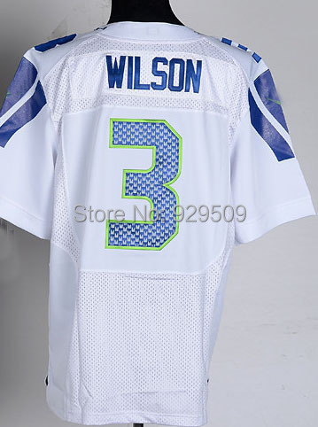 Newest Russell Wilson Fashion Jersey  Elite American Football Jersey White Shipping