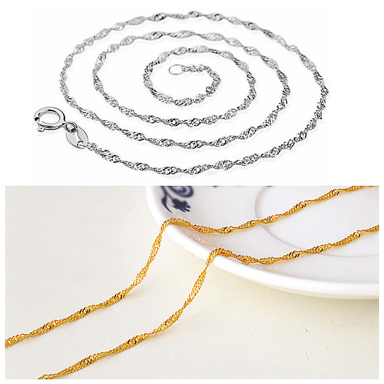 chain chain accessories manufacturers wholesale 925 Sterling Silver Necklace Chain agent a consignment of 209720 waves(China (Mainland))