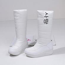 Invierno Mujeres de Alto de Rodilla Zapatos Shake Suelas Antideslizantes Gruesos Mujeres Impermeables Botas de Nieve de Algodón Botas de Plataforma Caliente Scarpe Donna(China (Mainland))