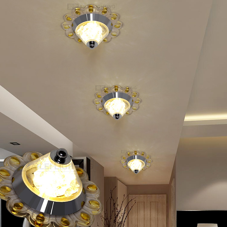 Love Ray led Crystal aisle lights corridor lights porch light foyer lamp shot lamps living room ceiling ceiling 01059(China (Mainland))
