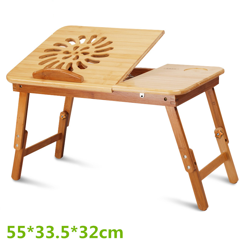55*33.5*32cm Bed desk laptop desk cooling table bamboo dormitory with a small desk folding table minimalist(China (Mainland))
