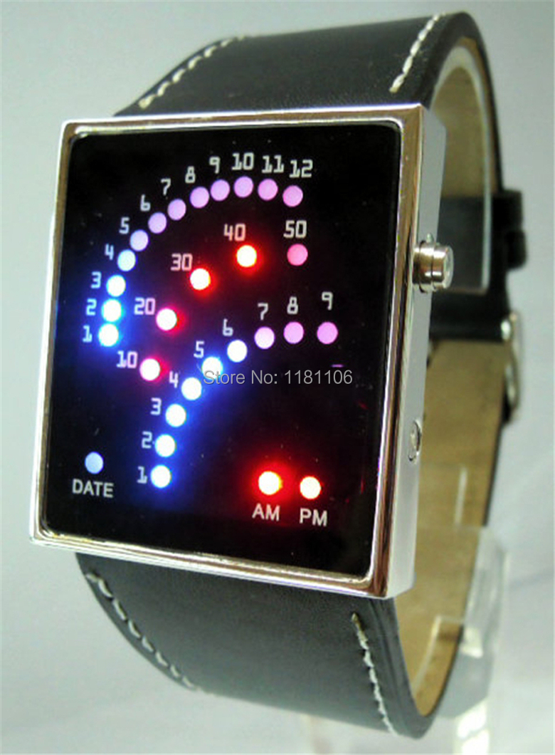 , men's women's LED display electronic watches, fashion watches PU band - 13413630 store