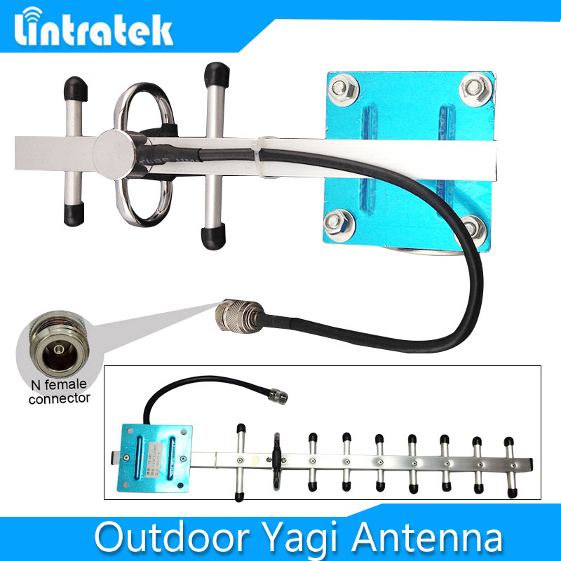 13dbi Yagi antenna1710-2170MHz 3G PCS WCDMA GSM Yagi outdoor antenna 1900MHz with N female connector for CDMA DCS mobile booster(China (Mainland))