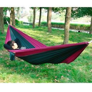 2016 New arrival Portable Outdoor Traveling Camping Parachute Nylon Fabric Hammock for 1- 2 persons for free shipping(China (Mainland))