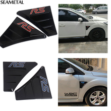 RS side fender wing Vent Grill Emblem stickers Decration Brand Ford Focus 2 3 2006- 2015Auto Accessories Car Styling - Super-Cars store