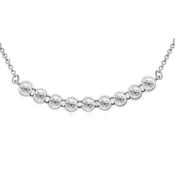 2015 gift for girlfriend! Rhinestone crystal necklace with 9 piece of round crystals