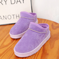 Snow Boots Women Short Flat Lovers Warm Plush Cotton Shoes Large Size Slip On Casual Ankle