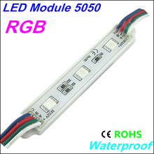 20Pcs/Lot LED Modules SMD5050 3LEDS advert Module Waterproof IP65 DC12V RGB/Yellow/Green/Red/Blue/White/Warm White Freeshipping(China (Mainland))