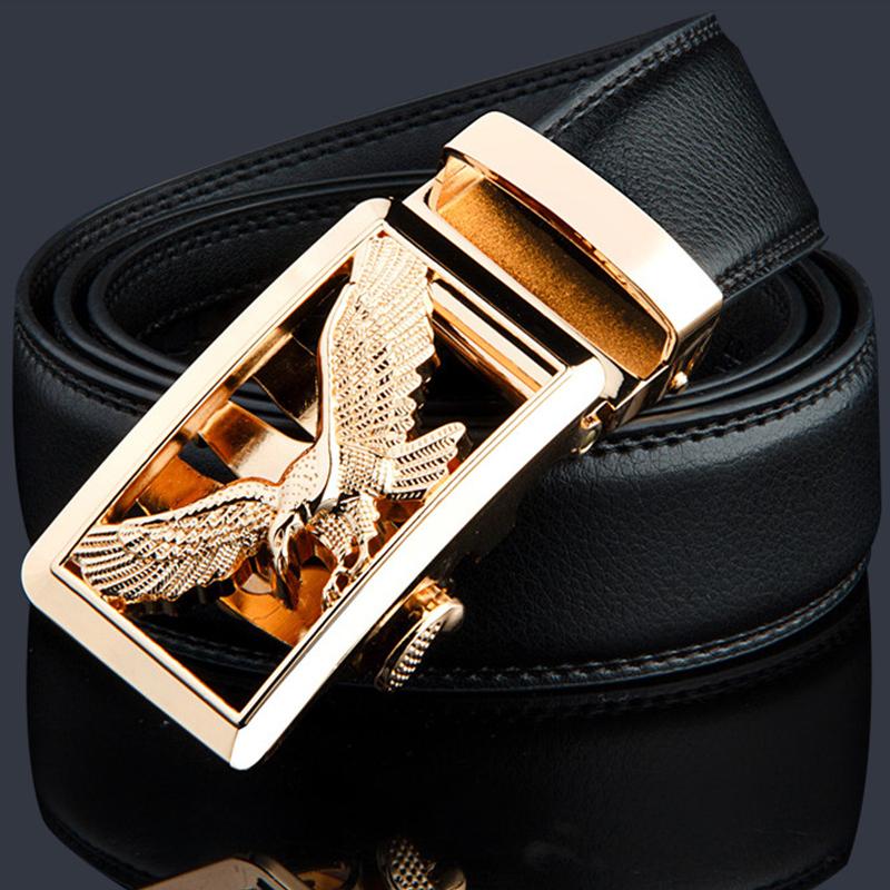 belt men belt gold automatic buckle luxury black strap designer belts