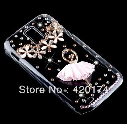 Bling Bling Ballet Girl flower Diamond Hard Case Cover For Samsung Galaxy S2 T989 T-Mobile