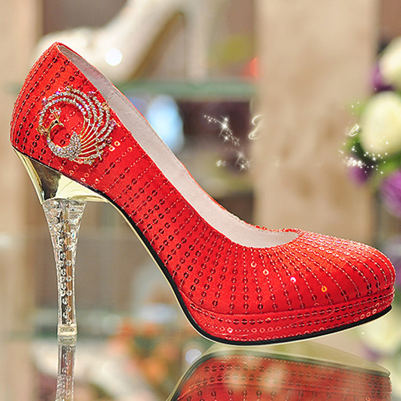 Red Glitter Heels Promotion-Shop for Promotional Red Glitter Heels ...