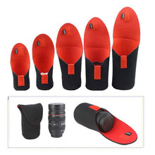 Buy High 5pcs/lot Neoprene DSLR Camera Lens Soft Protector Pouch Bag Case Set S M L XL XXL Canon Nikon SONY for $7.51 in AliExpress store