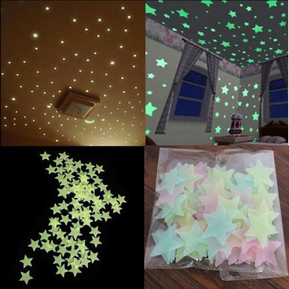 Buy 100pcs Wall Stickers Decal Glow In