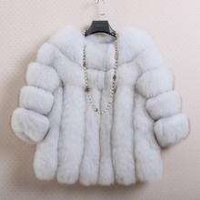 13 Style New 2015 Winter Coat Women Costly  artificial Fox Fur Overcoat Splicing Mink Fur Coat Casual Clothing Women Coat S-4XL(China (Mainland))