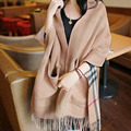 Big pocket shawl scarf female dual use Imitation of cashmere wool keep warm Plaid spring and