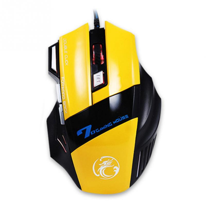 Professional Wired Gaming Mouse 7 Button 3200DPI LED Optical USB Wired Computer Mouse Mice Cable Mouse High Quality(China (Mainland))