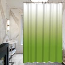 Miracille الأزياء تغير اللون مطبوعة المعمرة نسيج البوليستر حمام دش ستائر الحمام للماء ستارة الحمام ديكور(China)