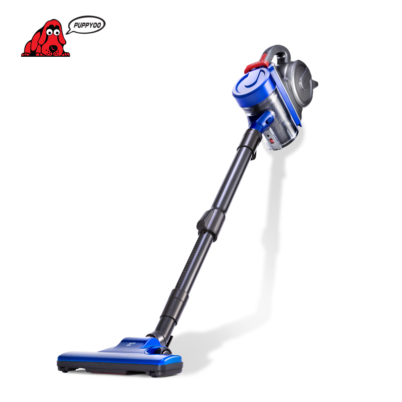 PUPPYOO Low Noise Home Rod Vacuum Cleaner Handheld Dust Collector household Aspirator Black&Blue WP3009()