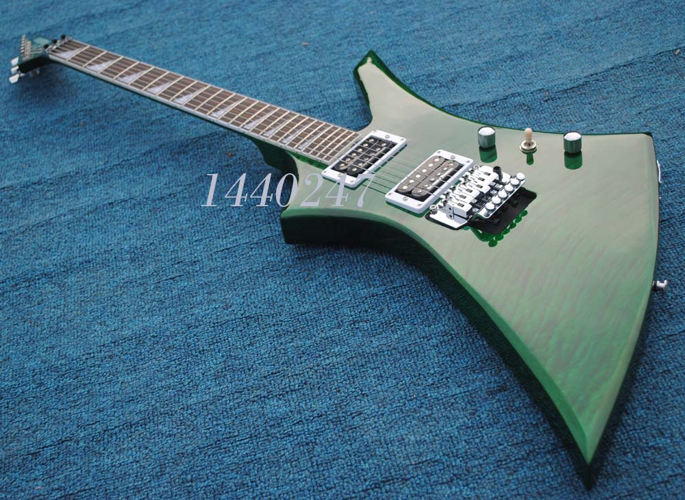 Jackson Explore series electric guitar,green quilted maple top, accept customize/OEM guitarra(China (Mainland))