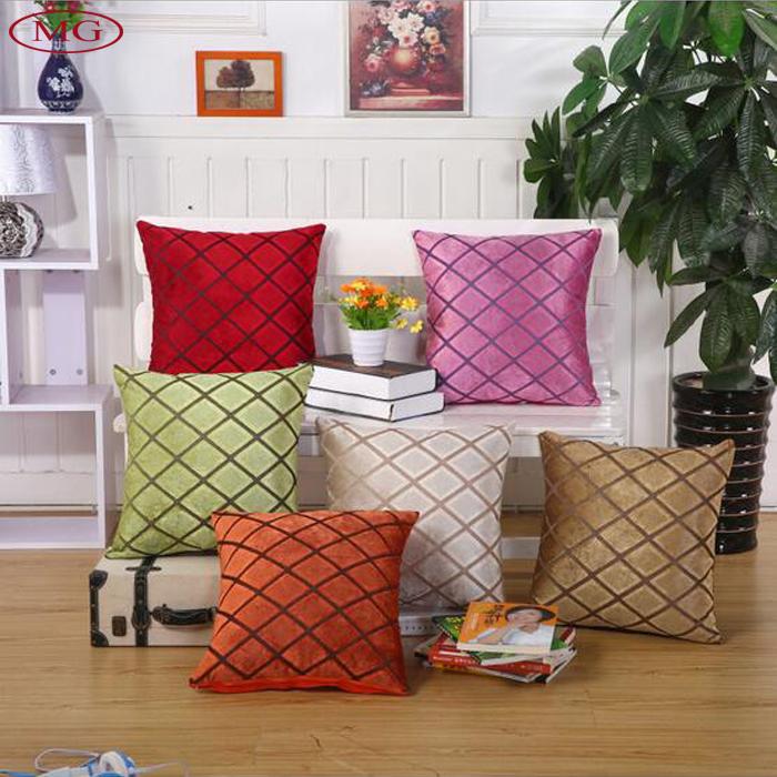 home sofa decorative cushion cover plaid pattern throw