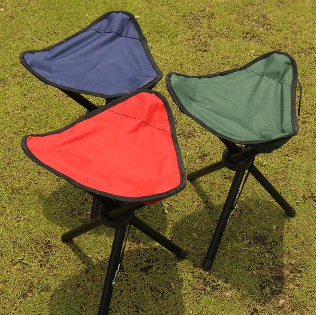Folding Outdoor Camping Hiking Fishing Picnic Garden BBQ Stool Tripod Three feet Chair Seat Wholesale