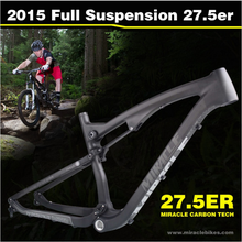 Full Suspension Frame,2016 Popular 27.5er Full Suspension Carbon Mountain Bike Frame,Thru Axle 27.5er Mountain Bike Frame(China (Mainland))