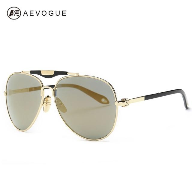 Aevogue очки мужчины лето стиль солнцезащитные очки металлический каркас очки модной старинные вождения очки UV400 AE0359